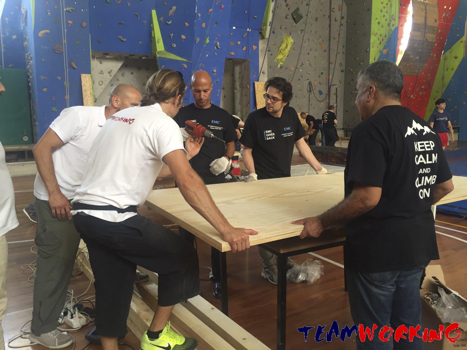 Un team building a Roma per il sociale