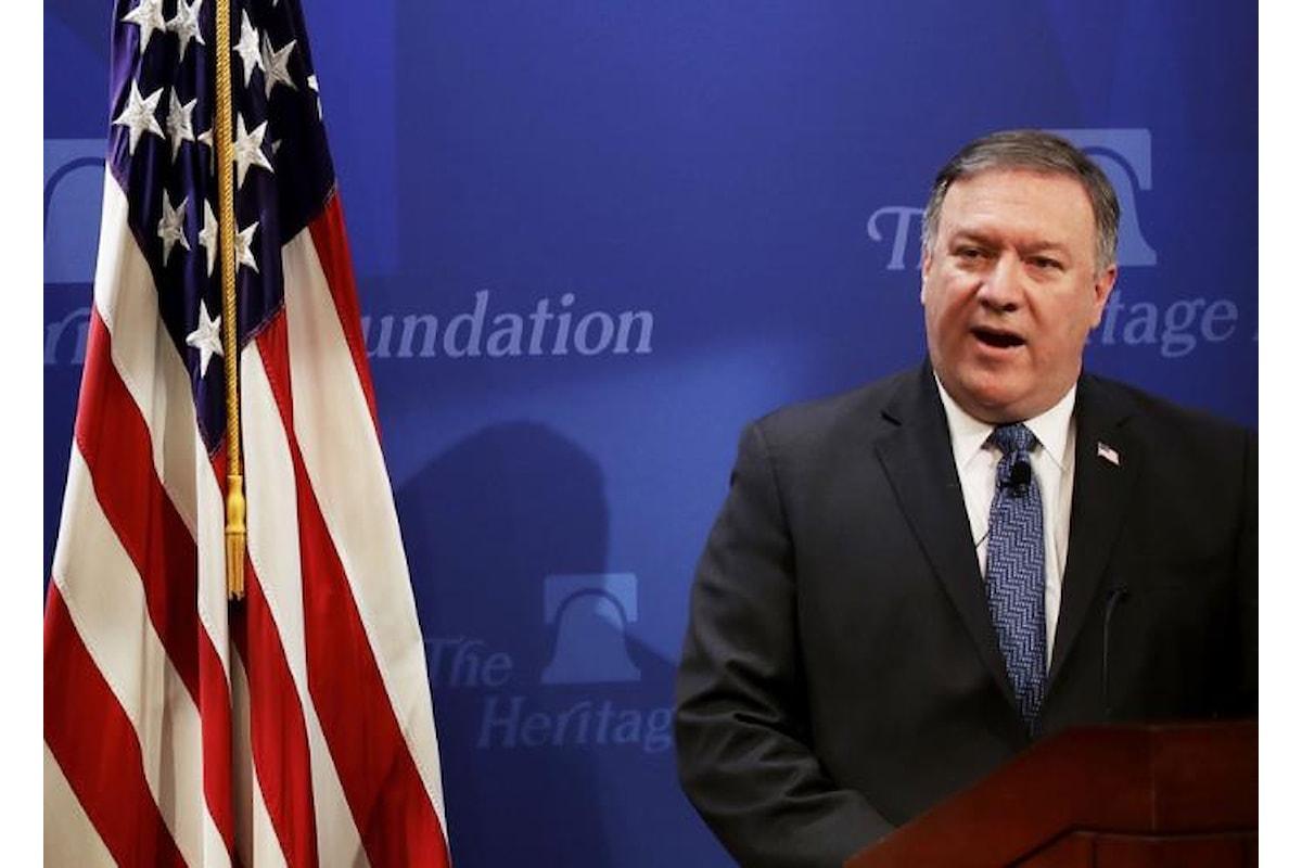 Pompeo elenca le nuove condizioni all'Iran, una provocazione per arrivare allo scontro militare