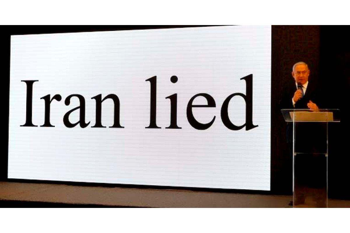 Netanyahu accusa l'Iran di aver continuato a lavorare per l'atomica anche dopo il trattato del 2015