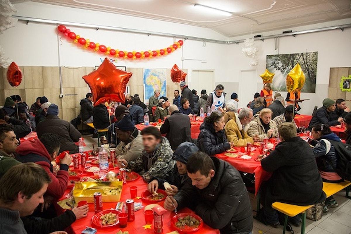 Il pranzo di Natale di Progetto Arca: nei centri menù speciale per oltre 1600 ospiti senza casa