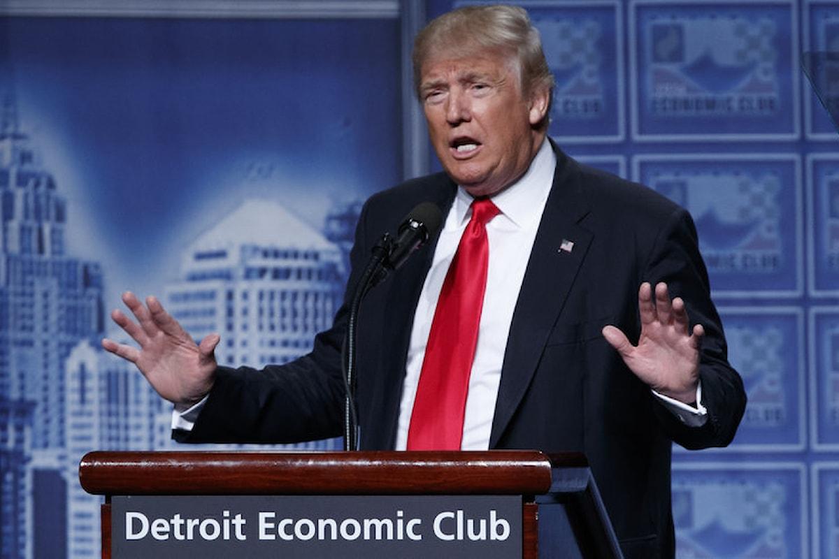 Trump presenta il suo programma economico. Tetto del 15% per l'imposta sul reddito d'impresa