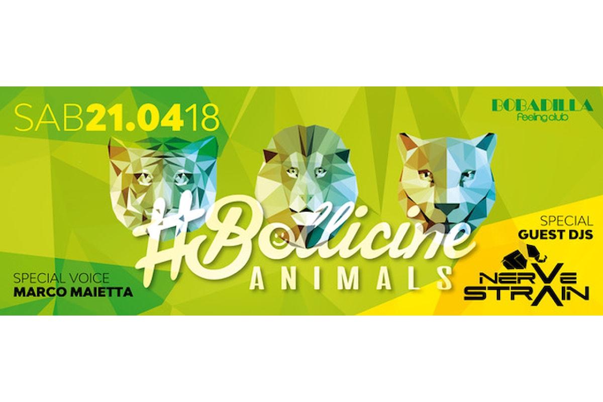 21 aprile, #Bollicine Animals al Bobadilla di Dalmine (BG). Al mixer NerveStrain