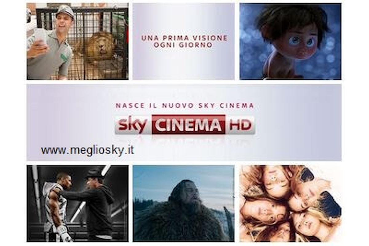 Ogni giorno un film in prima visione su Sky