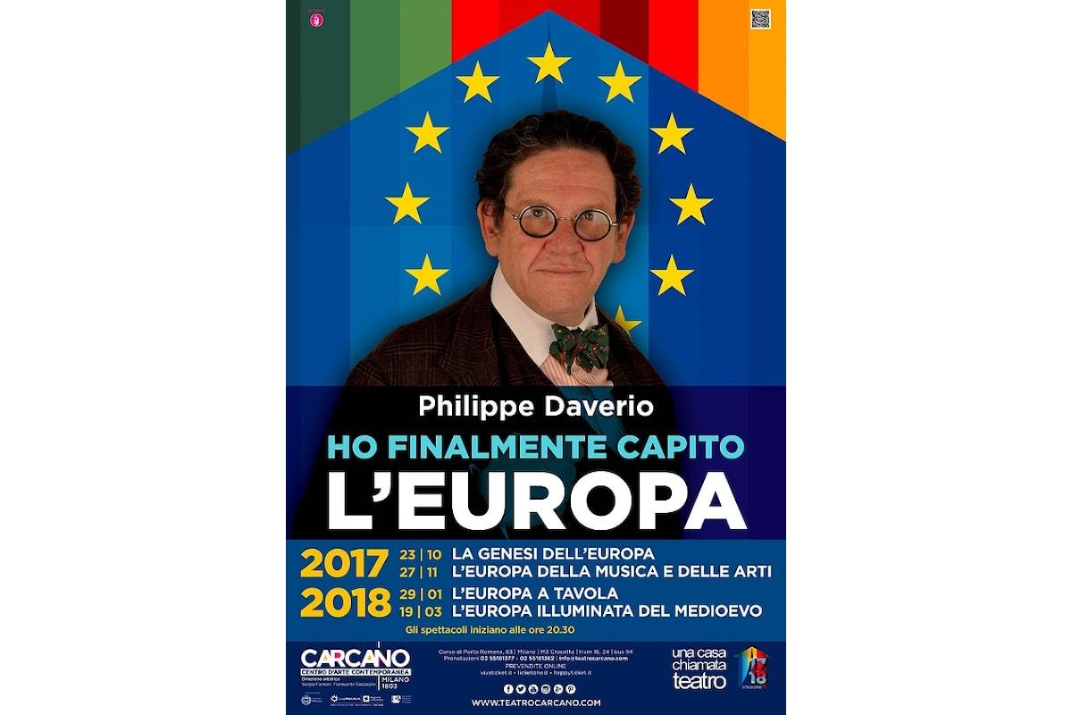 Philippe Daverio al Carcano: L'Europa della musica e delle arti, conferenza spettacolo per il progetto di storia non sempre narrata Ho finalmente capito l'Europa
