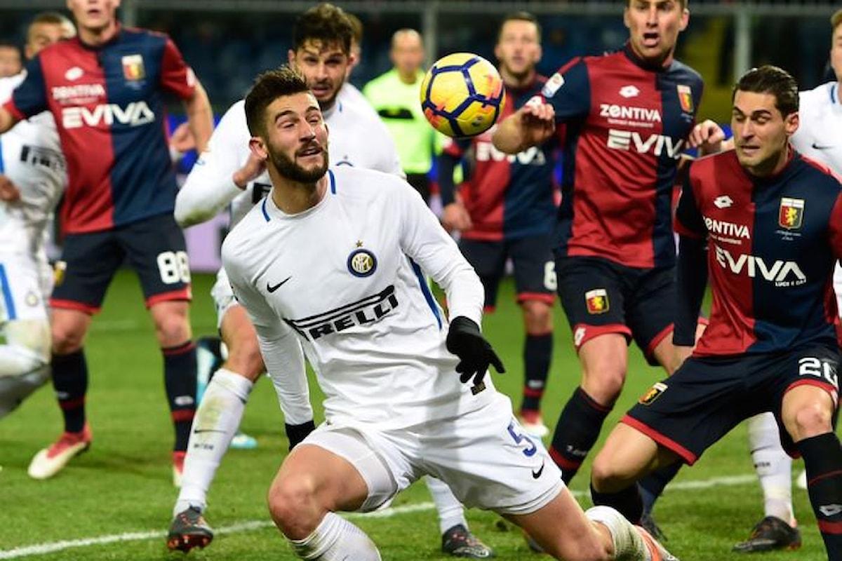 A Marassi l'Inter perde 2-0 con il Genoa e scende al quarto posto