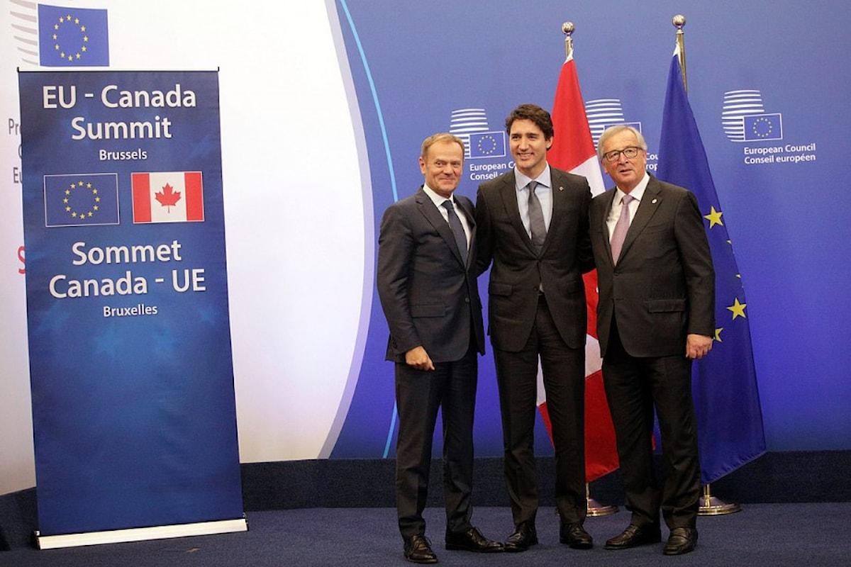 CETA, il trattato di libero scambio tra UE e Canada è stato firmato il 30 ottobre 2016
