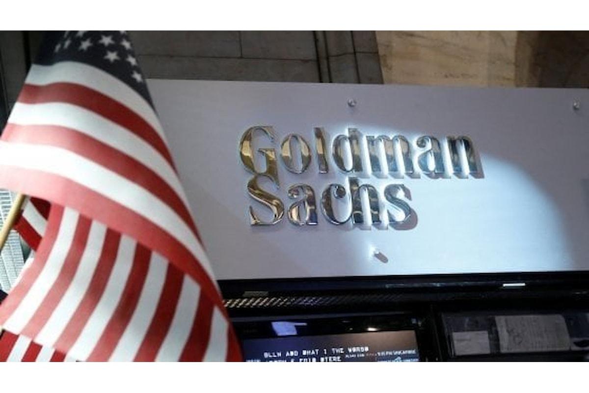 La mossa di Goldman Sachs: ok al trading desk sulle valute virtuali