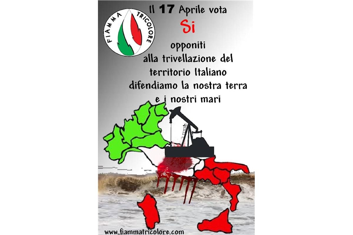 Gazebo di Fiamma Tricolore sul Referendum sulle Trivelle e Petizione contro il Canone RAI.