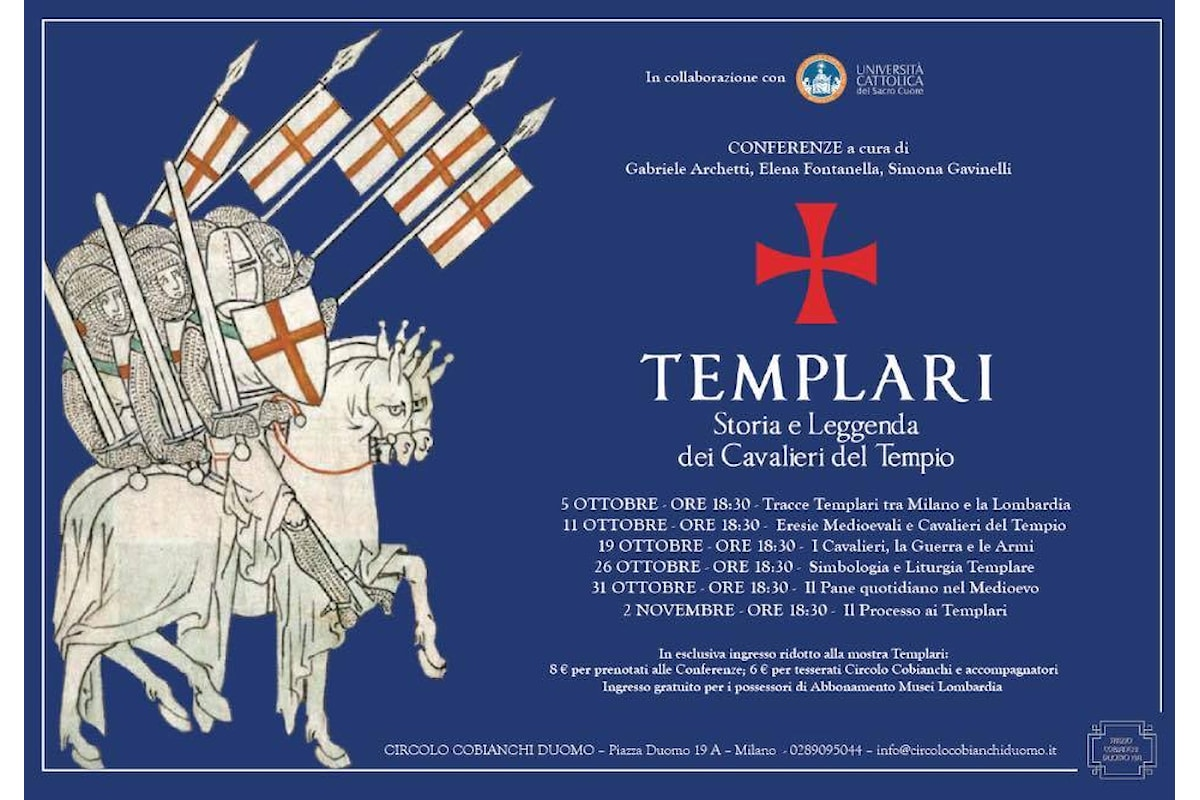 Conferenza, Templari a Milano