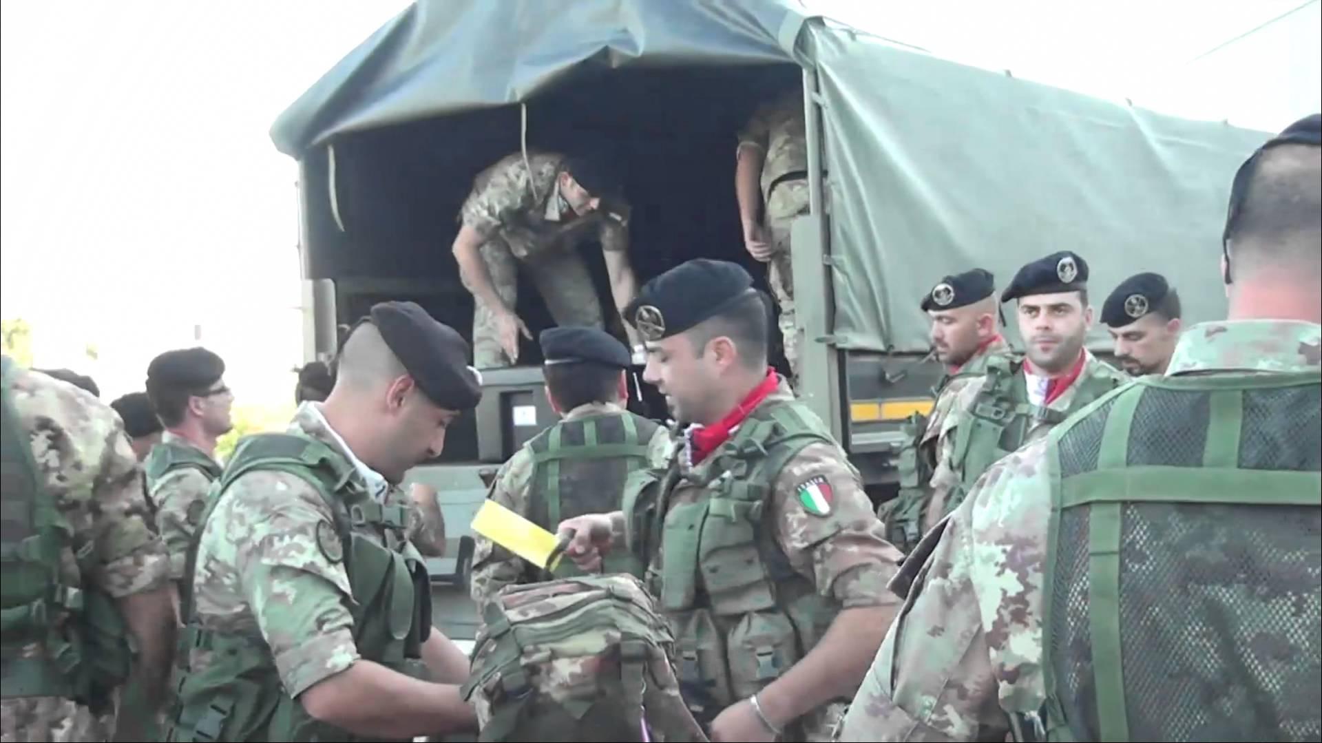 Sassari, la Brigata Sassari parte per una nuova missione in Afghanistan