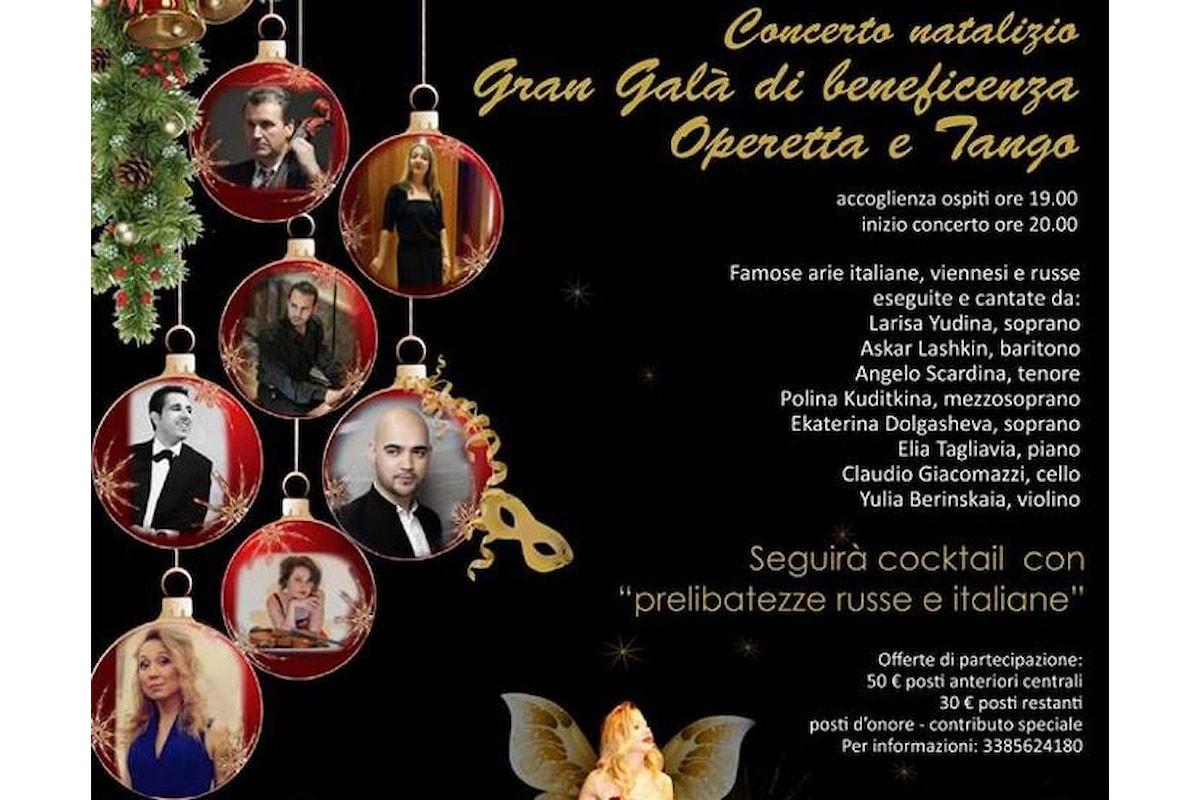 19 dicembre, Stravinsky Russkie Motivi presenta Concerto Natalizio - Gran Galà di Beneficienza Operetta e Tango presso la Sala Barozzi a Milano