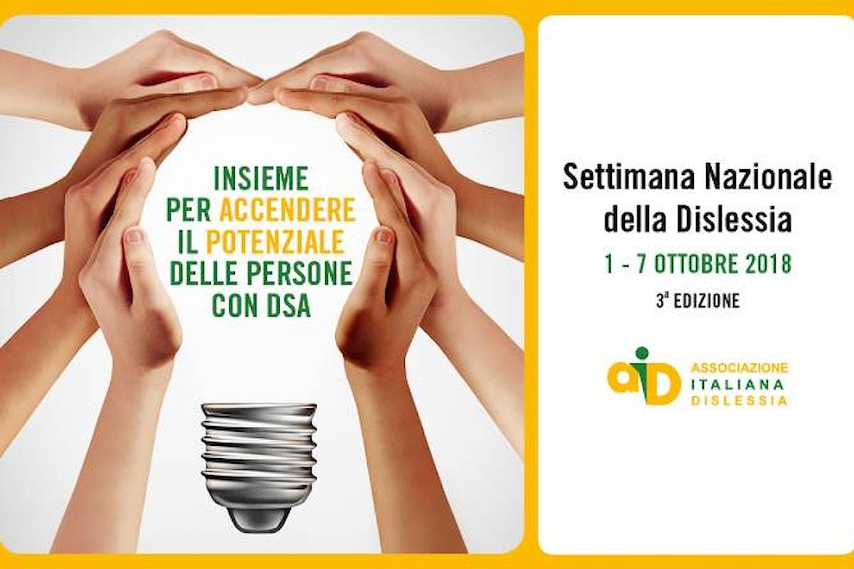 Dall'1 al 7 ottobre la 3a edizione della Settimana nazionale della Dislessia organizzata da AID