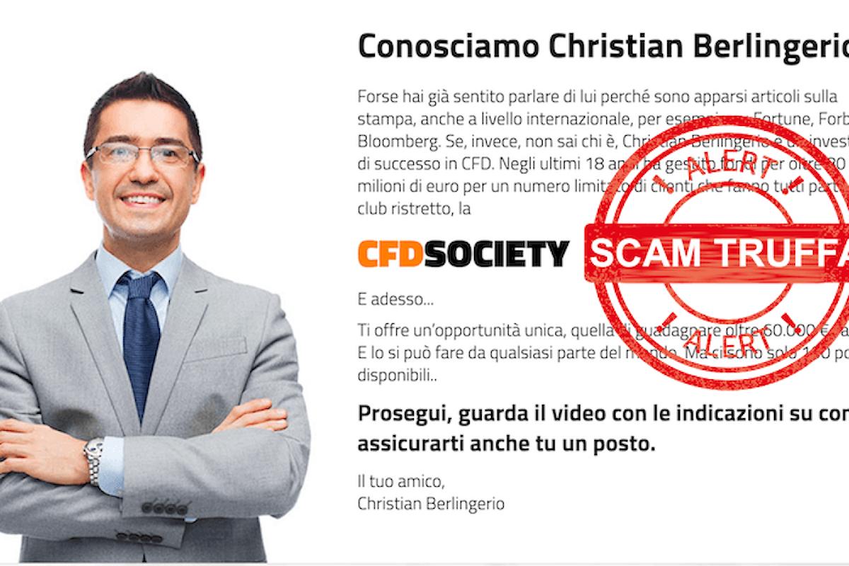 Chi è Christian Berlingerio e cosa è CFD Society? Scopri la verità dietro a questa pubblicità ingannevole!