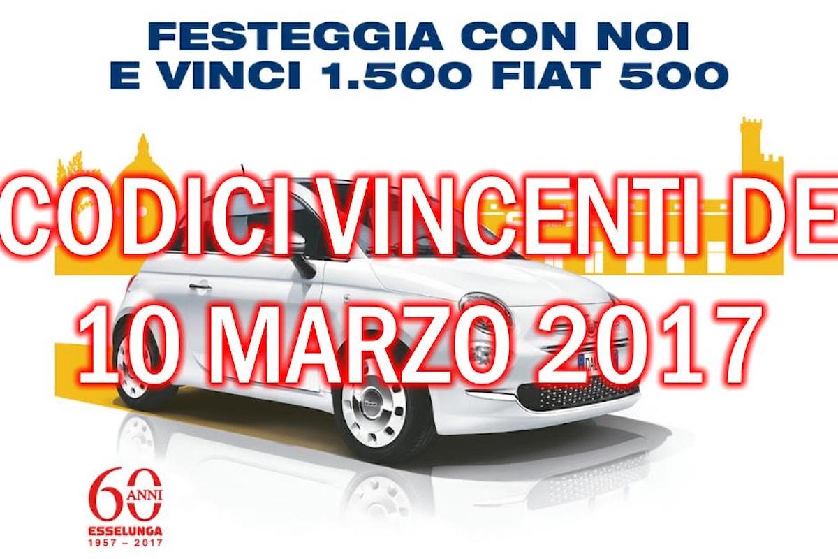 Codici vincenti Fiat 500 Lounge di Esselunga
