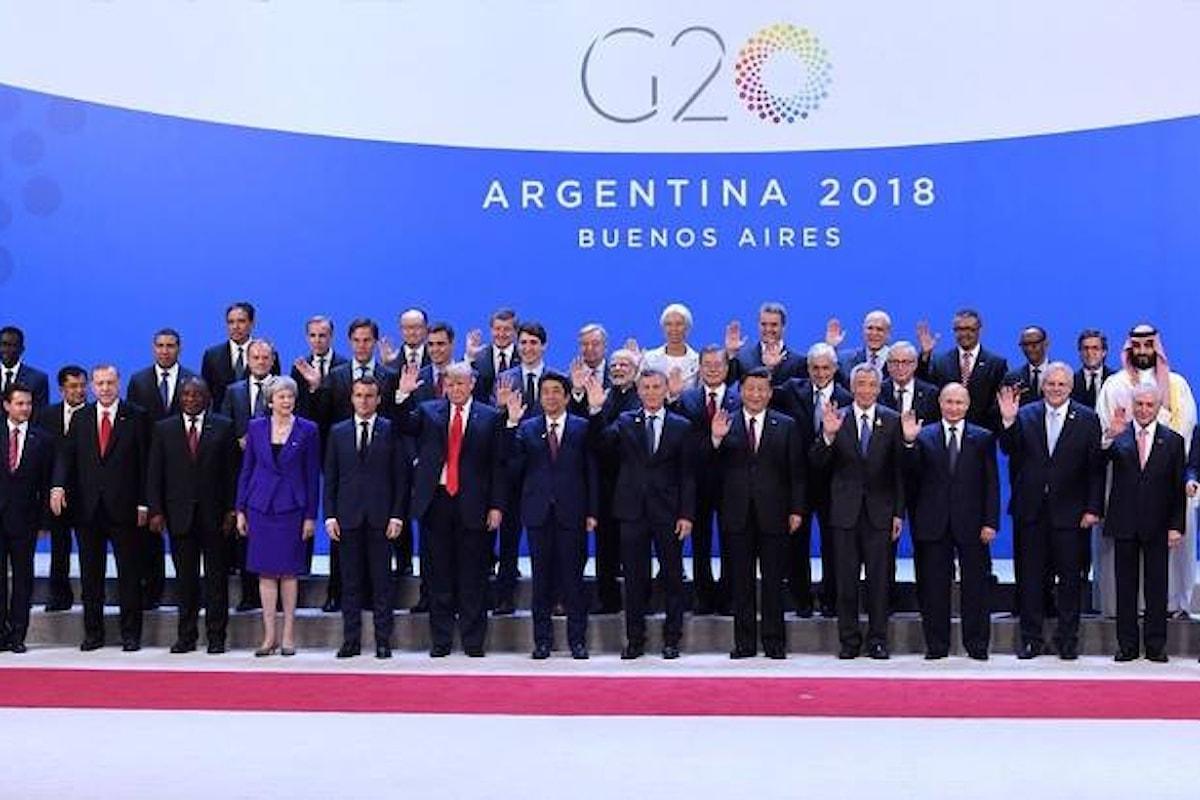 Concluso il G20 in Argentina con l'accordo per una riforma del WTO