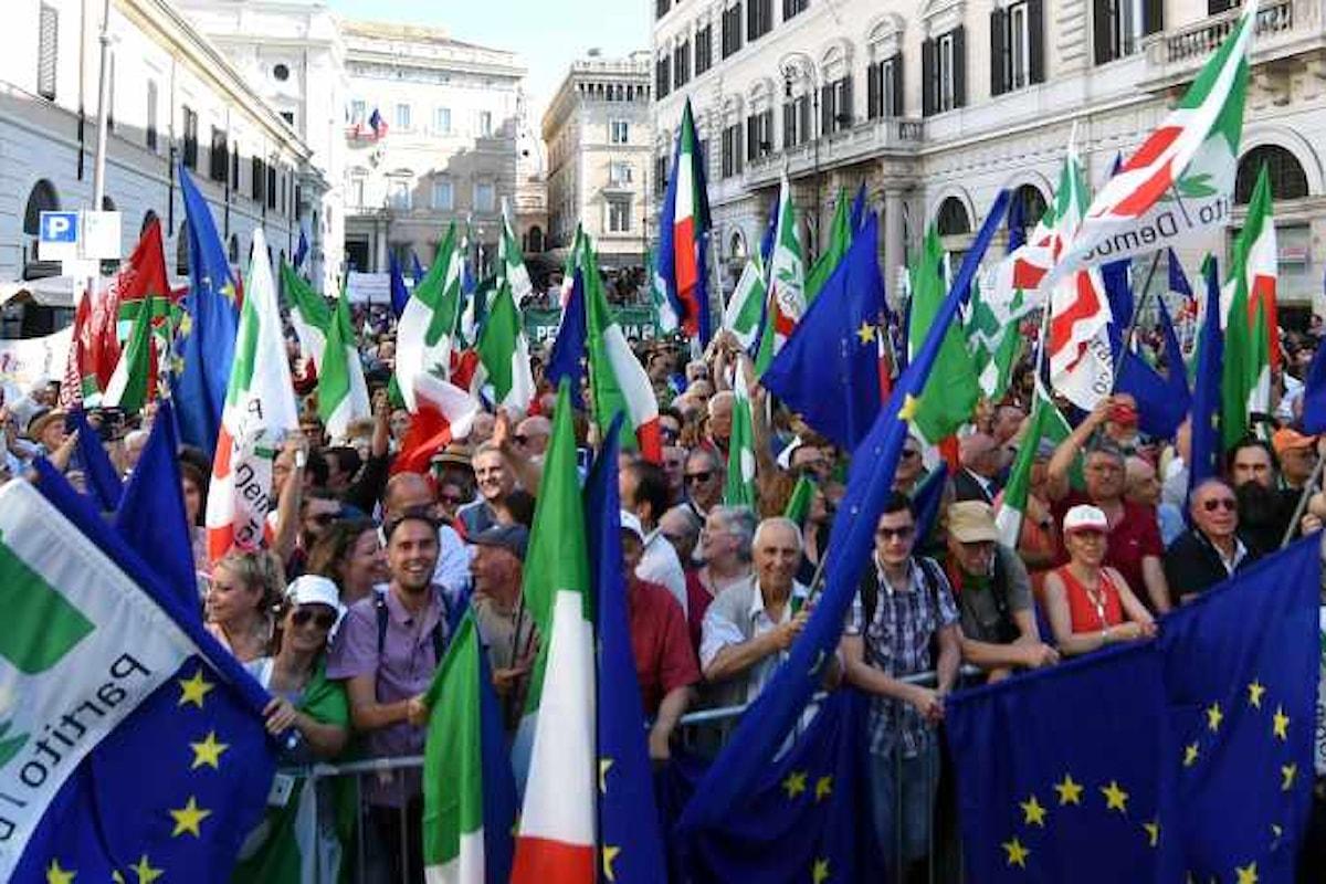 La disfatta del Pd riprende dalle piazze di Milano e Roma