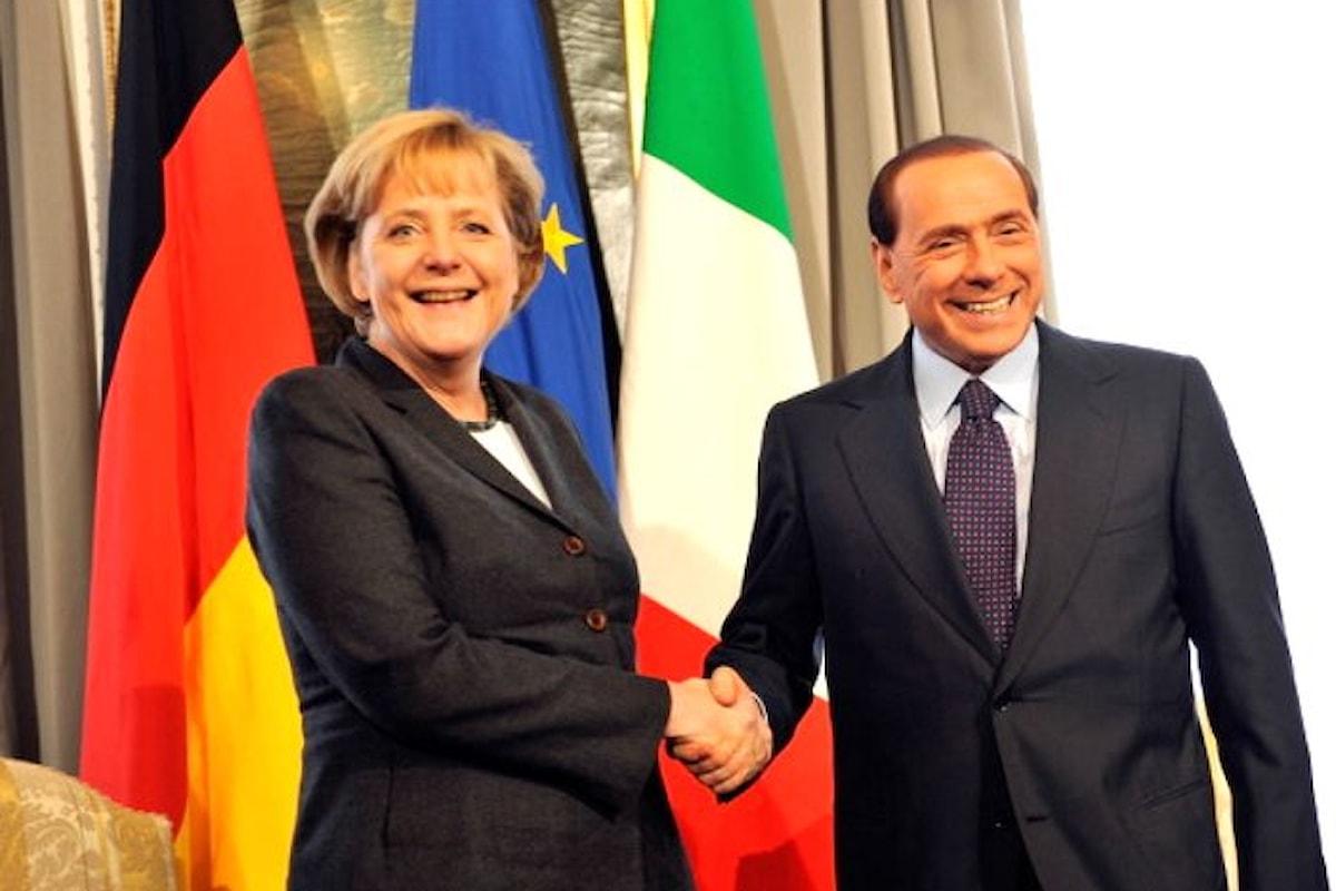 Tra Merkel e Berlusconi è di nuovo scoppiata la... pace. La cancelliera abbandona Renzi