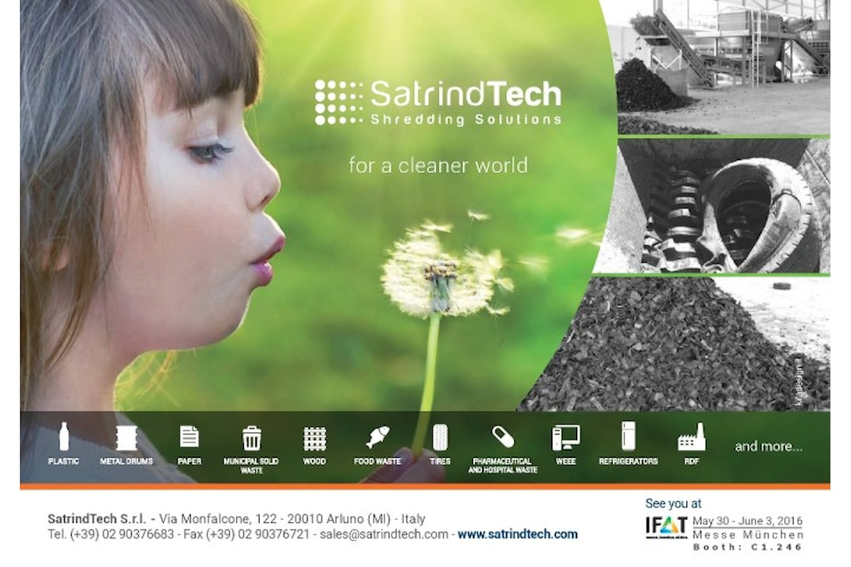 SatrindTech‬ all'IFAT 2016 – Stand C1.246