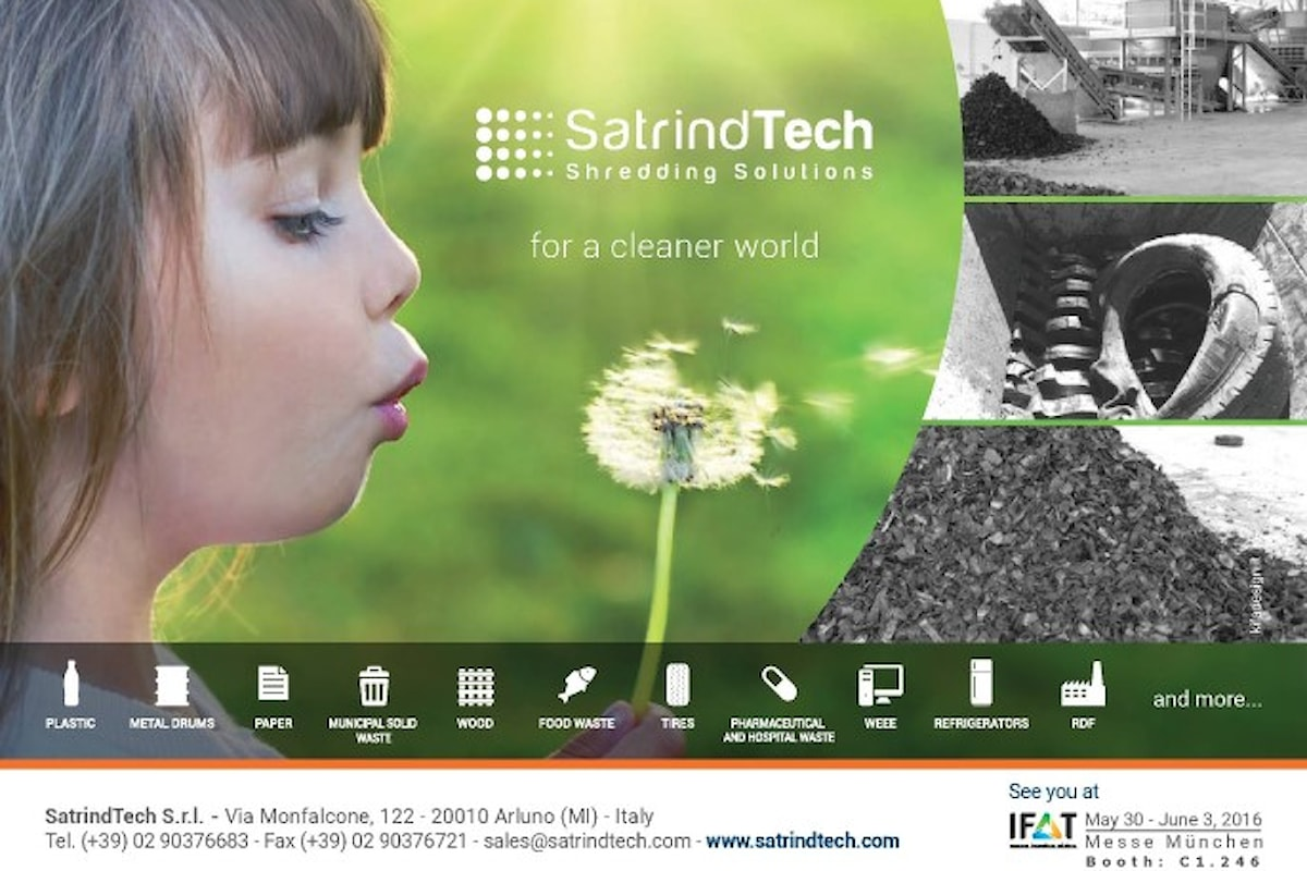 SatrindTech all'IFAT 2016 – Stand C1.246