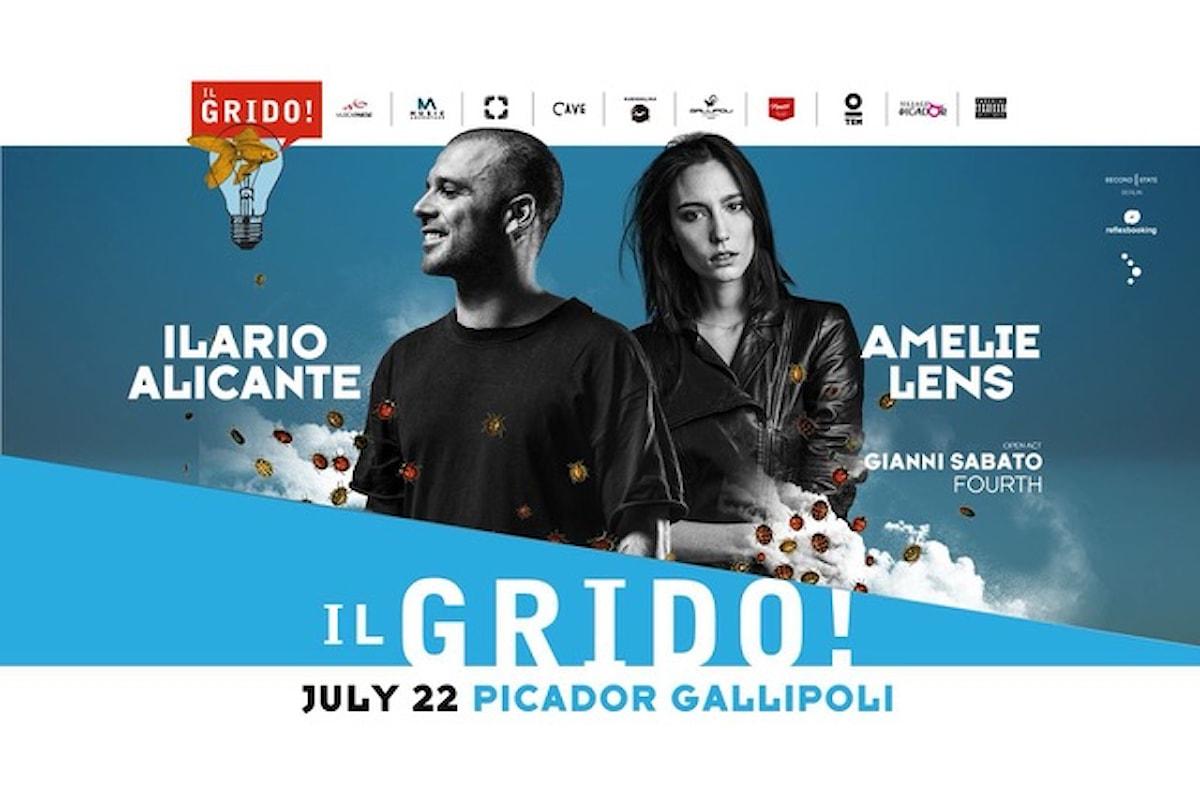 22 lugio, Ilario Alicante, Amelie Lens @ Il Grido! c/o Picador - Gallipoli (LE) by Musicaeparole