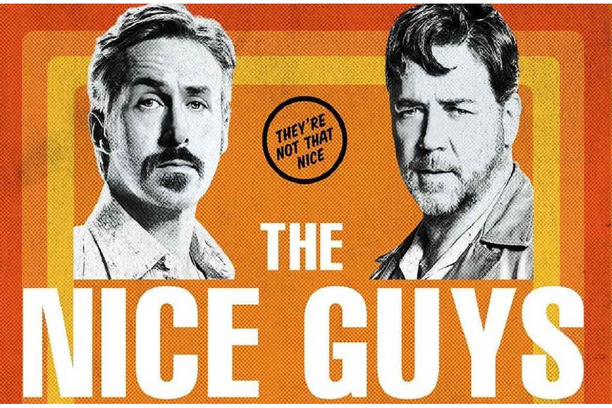 Russell Crowe e Ryan Gosling, una coppia anni '70 ben assortita in The Nice Guys