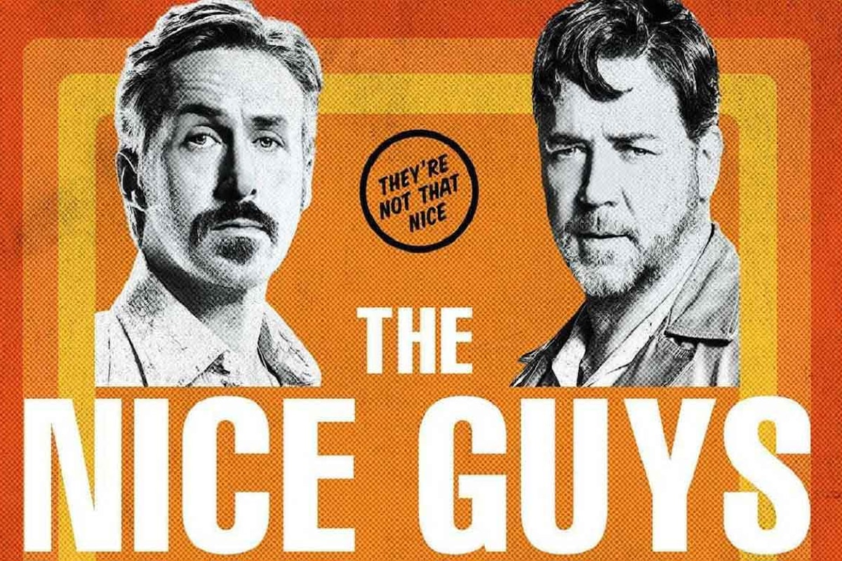 Russell Crowe e Ryan Gosling, una coppia anni '70 ben assortita in The Nice Guys