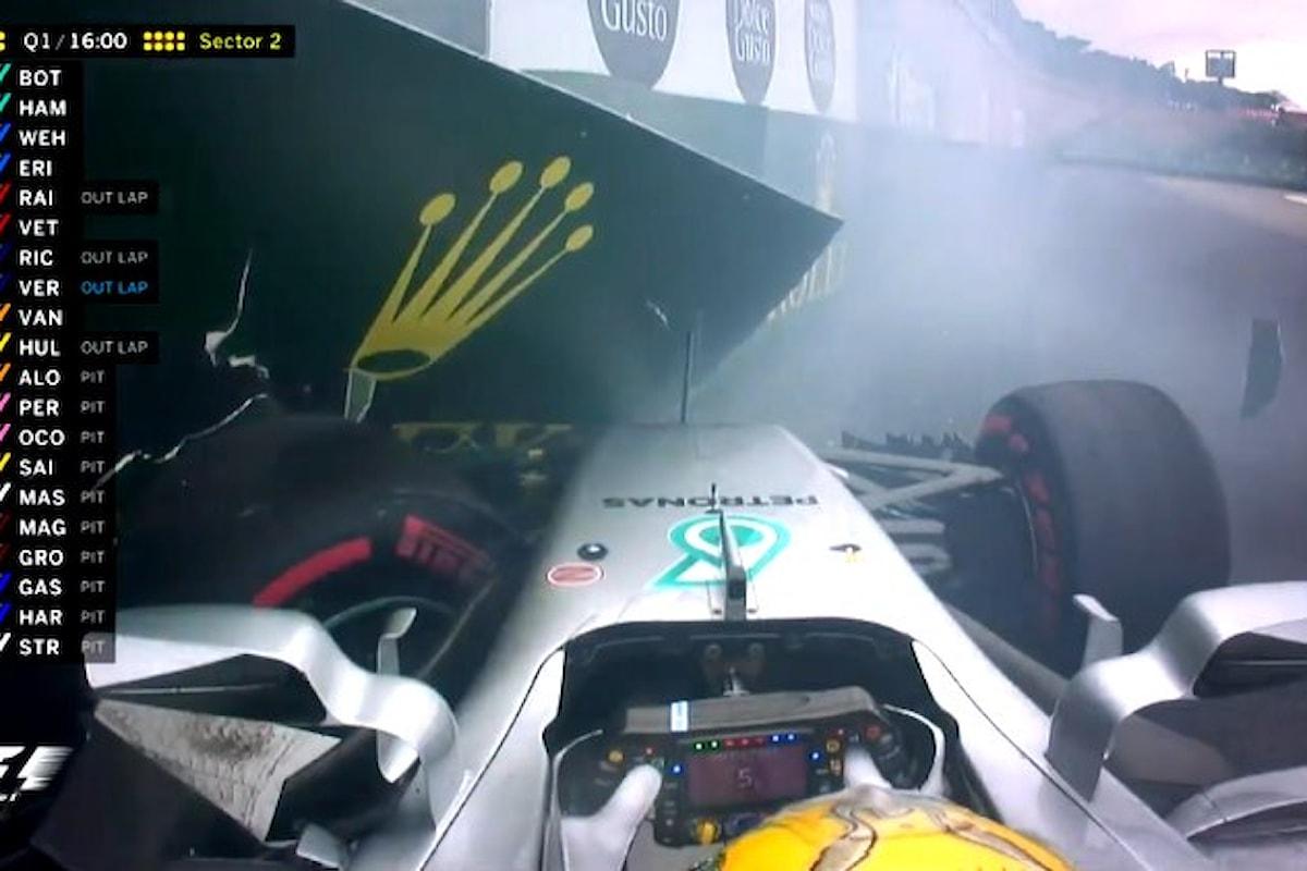 Ad Interlagos Hamilton parte ultimo, Bottas conquista la pole, Vettel è secondo