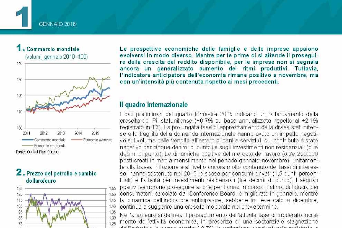 Istat: vista tra luci e ombre l'economia italiana per i prossimi mesi