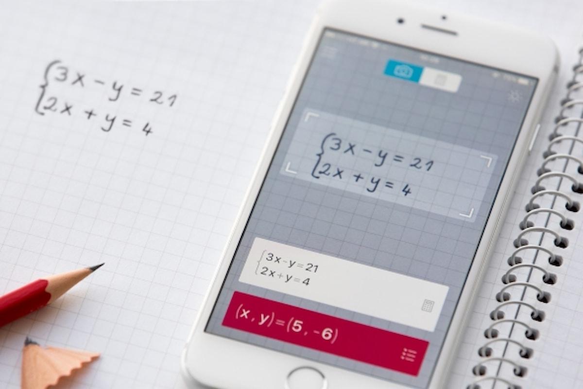 Photomath, la app che fotografa e risolve espressioni matematiche