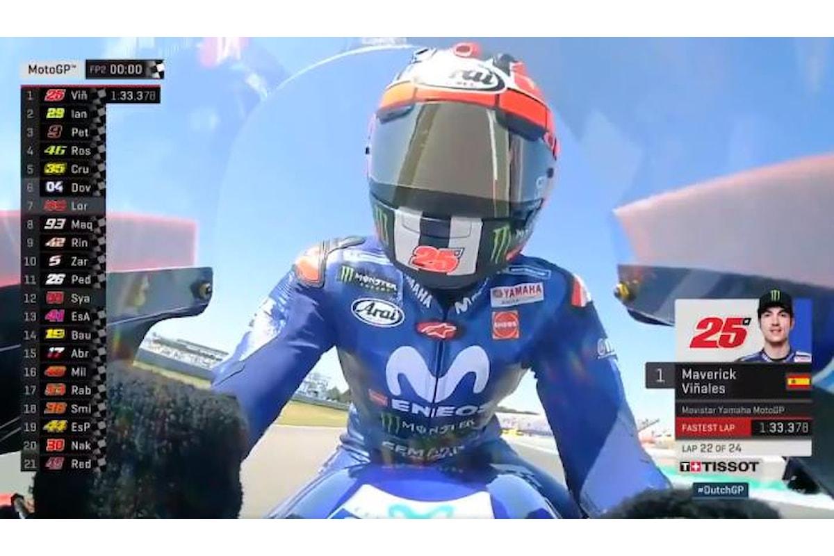 MotoGP 2018, nelle libere di Assen è Viñales (Yamaha) a fare il miglior tempo