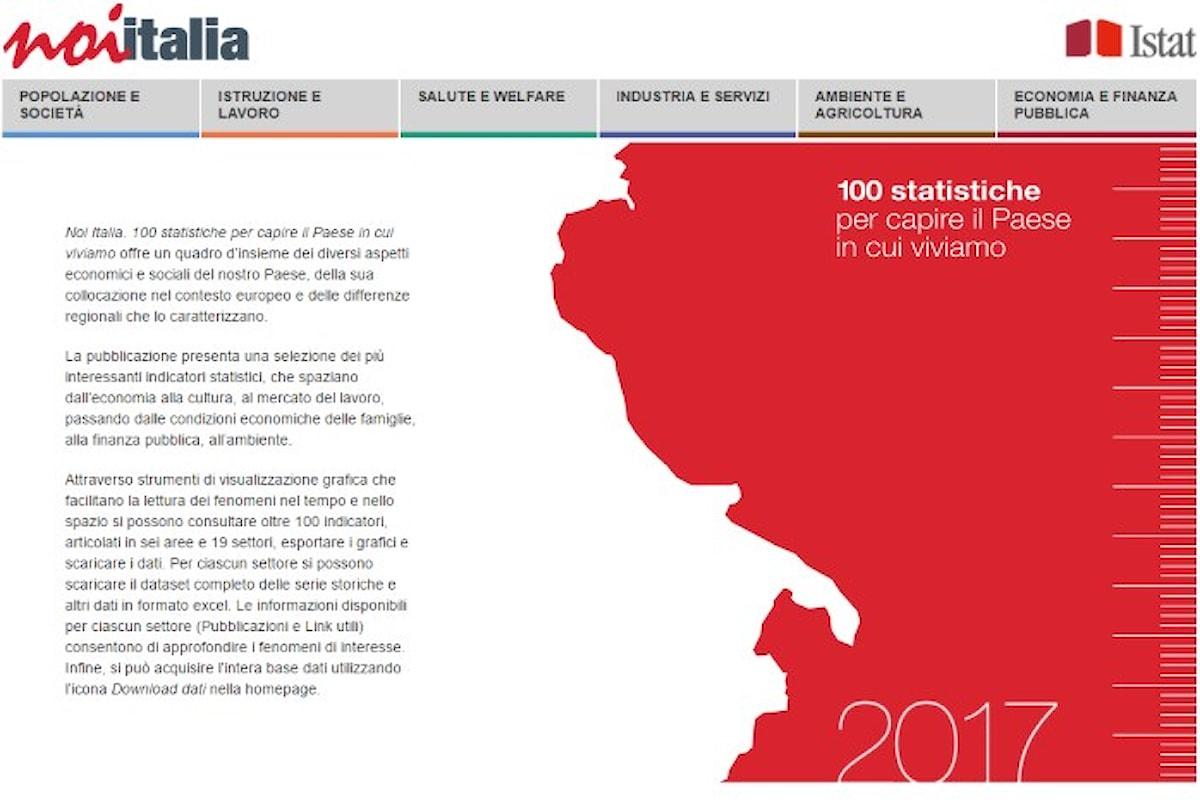 Noi Italia 2017. Le 100 statistiche pubblicate da Istat che danno un quadro del paese in cui viviamo
