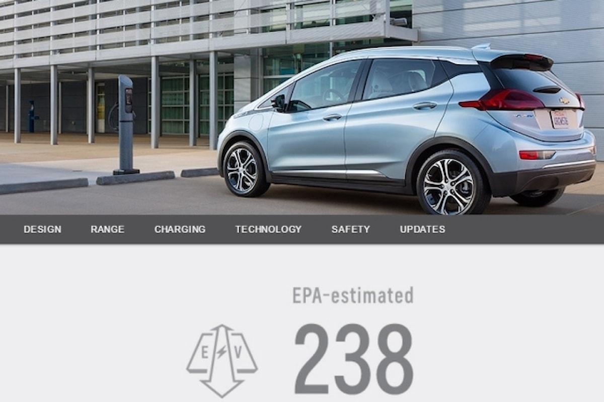 L'auto elettrica Opel Ampera-E avrà un'autonomia di 380 km!