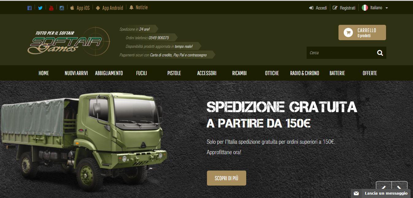 Softairgames.net: vendita on line al dettaglio e all'ingrosso di prodotti per il softair