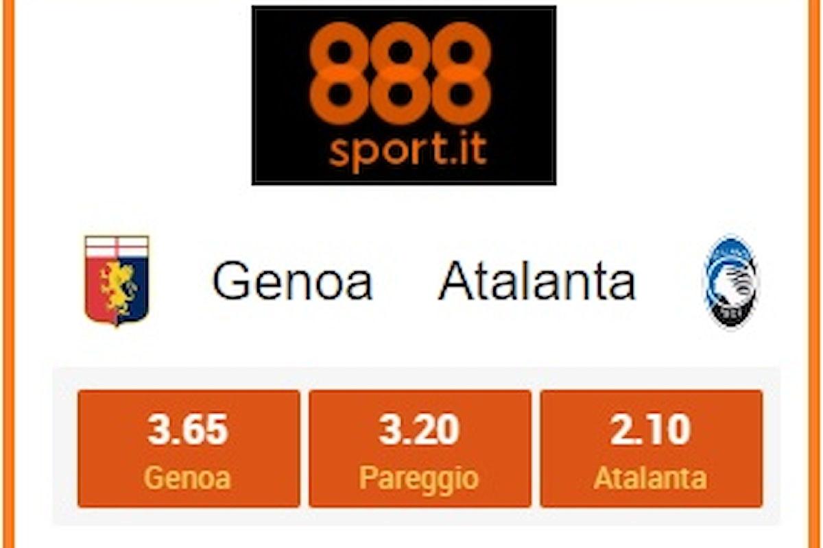 Serie A, Genoa-Atalanta: il ritorno dell'«1» viaggia a 3,65