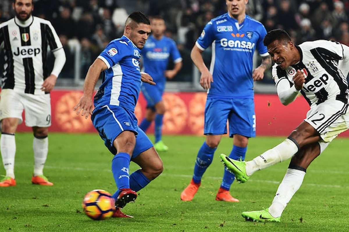 Juve - Empoli 2-0. E' la tra trentesima vittoria consecutiva allo Stadium