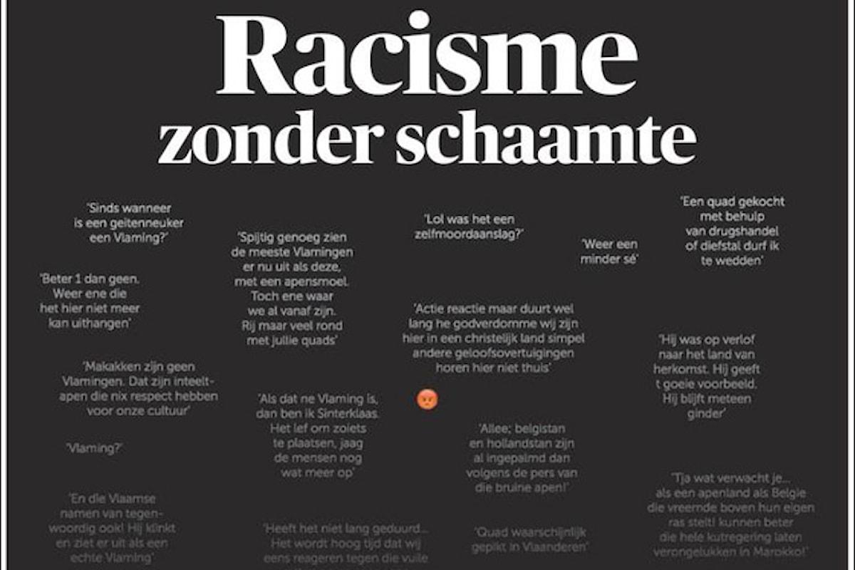 Il giornale De Morgen umilia i razzisti pubblicando in prima pagina i loro commenti