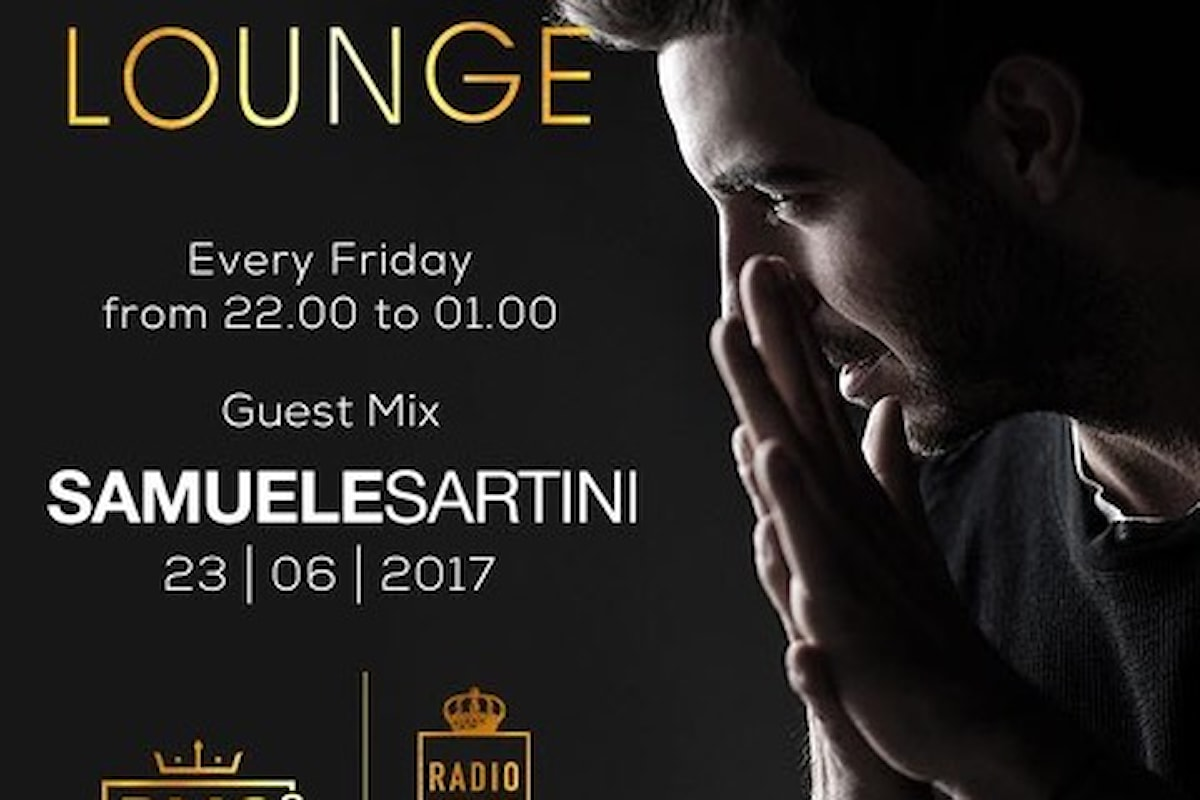 Samuele Sartini dj guest di RMC Vip Lounge, in onda su Radio Monte Carlo ed RMC 2