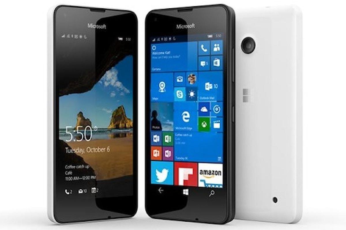 Amazon: Super offerta Lumia 550   Surface Phone Italia