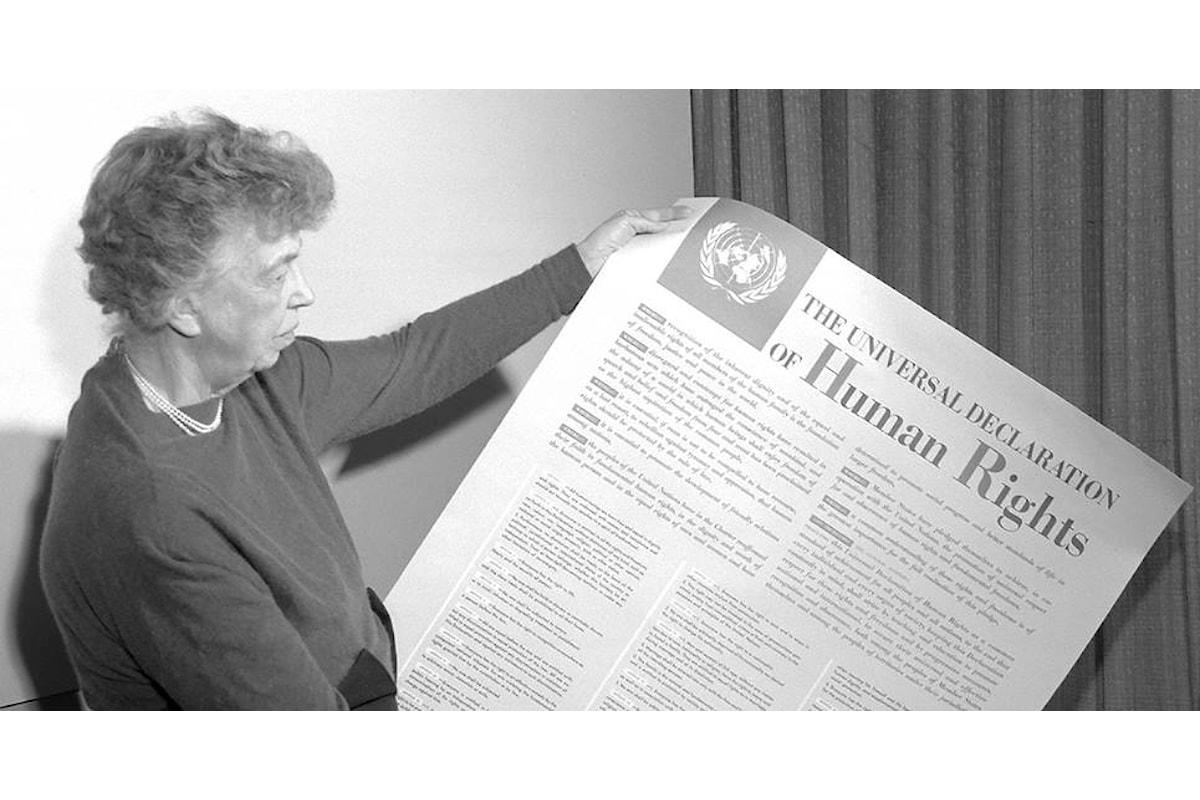 10 dicembre 2018, ricorrono 70 anni dall'adozione della Dichiarazione Universale dei Diritti Umani da parte dell'Onu