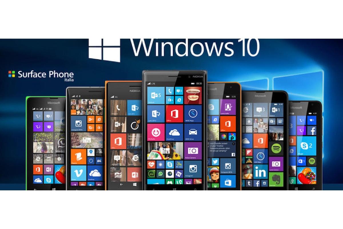Ecco i migliori smartphone Lumia con Windows 10 mobile   Surface Phone Italia