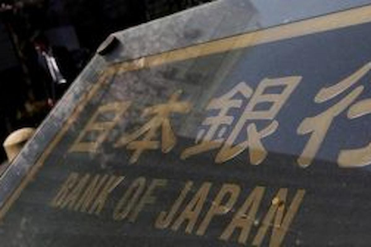 Forex, lo Yen giapponese viene spinto giù dalla deflazione