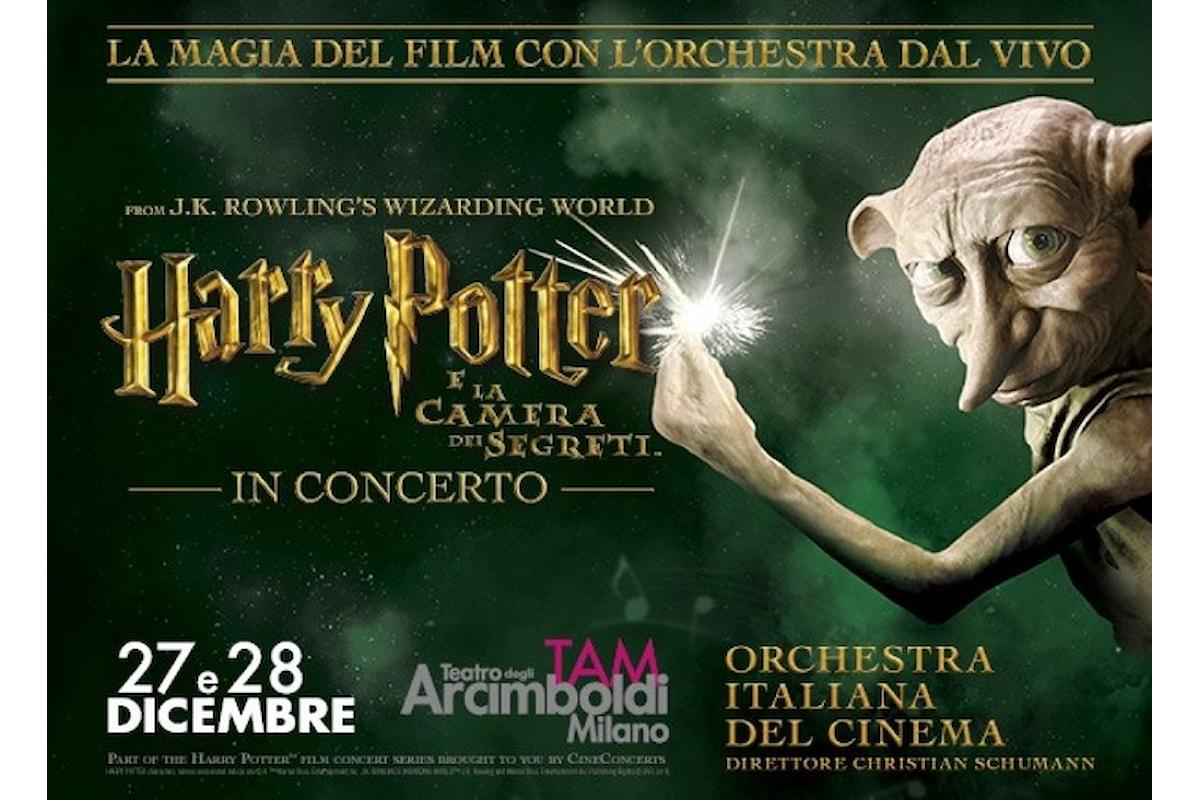 Il 27 e 28 dicembre al Teatro degli Arcimboldi di Milano Harry Potter e la Camera dei Segreti in Concerto