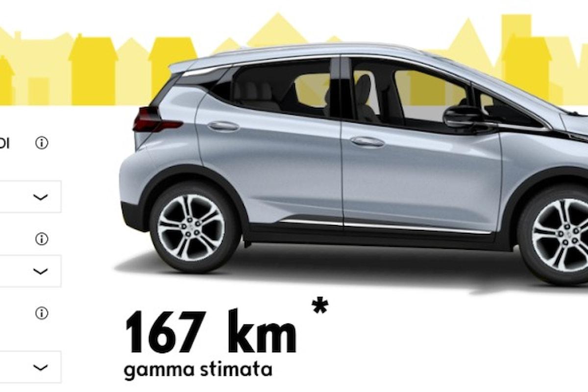 Ecco il simulatore del range della nuova auto elettrica Opel Ampera-e