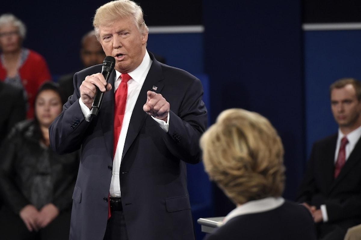 Secondo duello in tv. Trump a Clinton: Per me saresti in galera