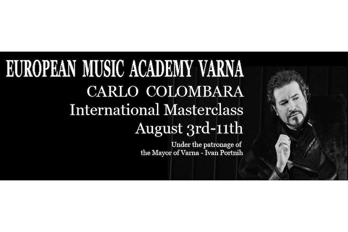 Master Class internazionale per cantanti lirici, tenuto dal Basso Carlo Colombara