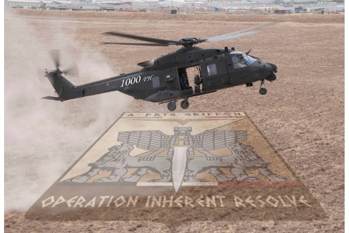 Iraq, elicotteri italiani superano mille ore di volo in operazione Inherent Resolve