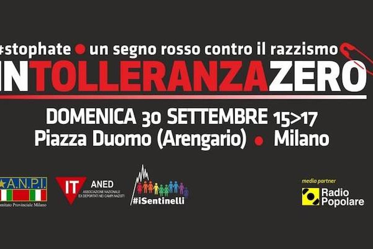 Intolleranza Zero, il 30 settembre a Milano la manifestazione dell'Anpi contro l'odio e il rancore alimentati nel Paese