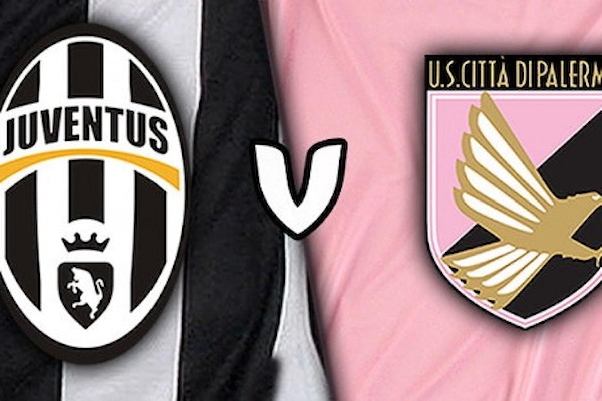 Juventus-Palermo, dove vedere il match di stasera