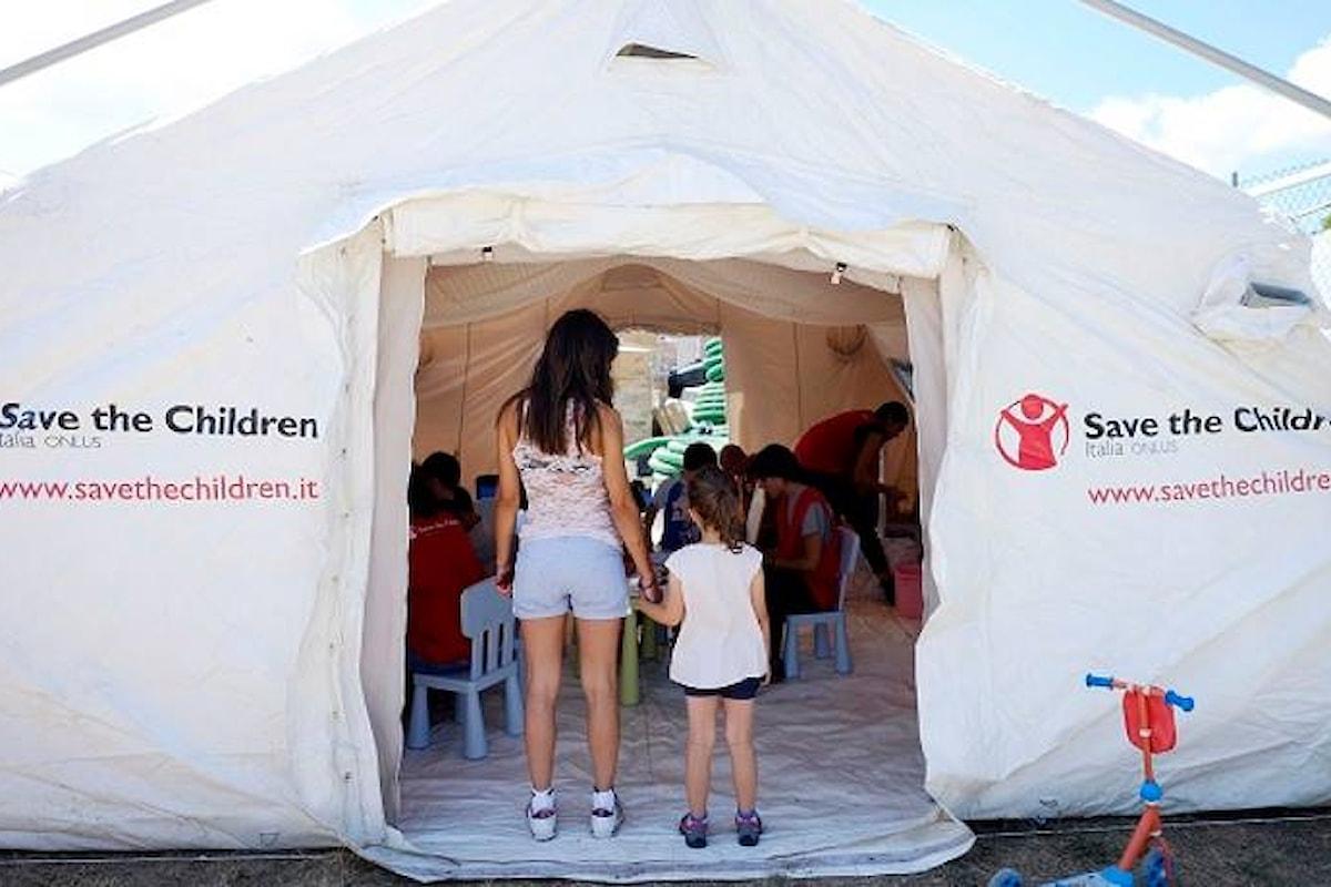Iniziative post terremoto. Save the Children realizzerà un centro socio-educativo a fianco della nuova scuola di Amatrice