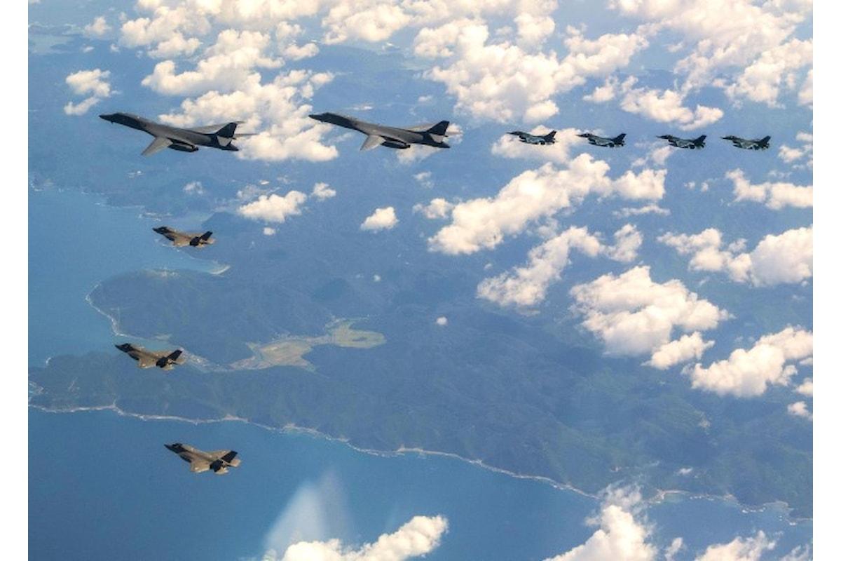 Esercitazioni aeree e navali di Usa, Corea del Sud, Cina e Russia in prossimità della Corea del Nord